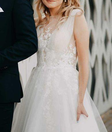 Piękna suknia ślubna 34/36 Celebrity koronka