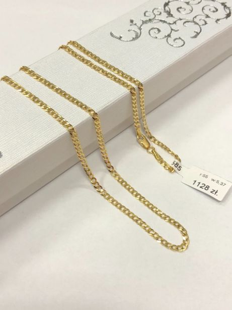 klasyczny złoty łańcuszek pancerka p585 5,37g