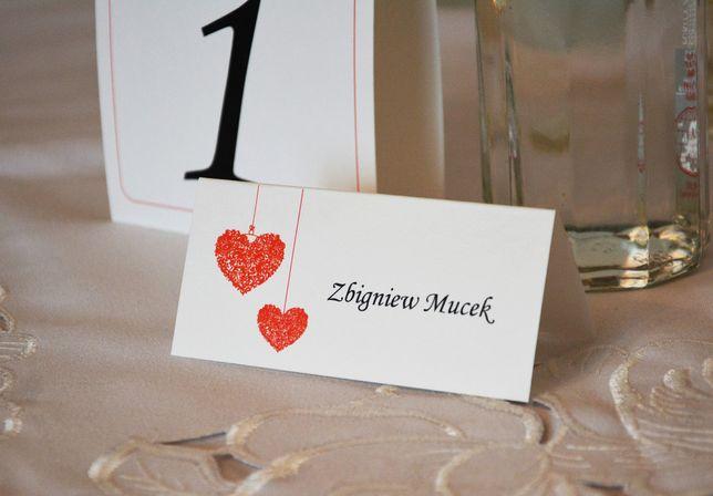 Winietki na stoły weselne - projekt indywidualny