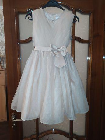 Нарядное пышное платье с бантом gloria jeans фатин атлас.11-12 лет