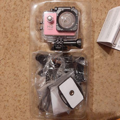 Kamera sportowa różowa HD Cam Action