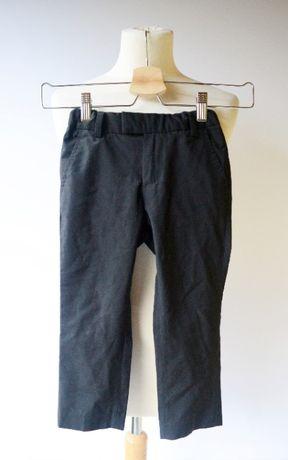 Spodnie H&M 98 2 3 lata Czarne Eleganckie Garnitur Wizytowe Czerń Boys