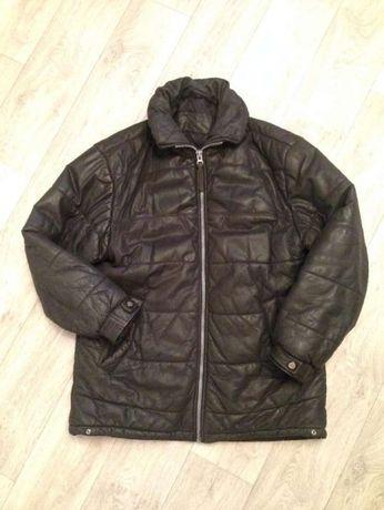 Натуральная кожа и утеплитель - качественная утепленная кожаная куртка
