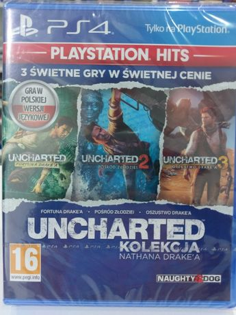 Uncharted Kolekcja Nathana Drake'a PL PlayStation 4 PS4 Nowa Kraków
