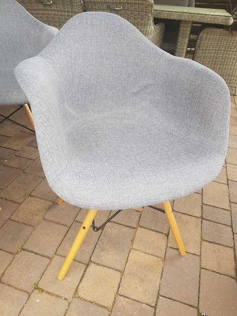 Krzesła tapicerowane szare 8szt.