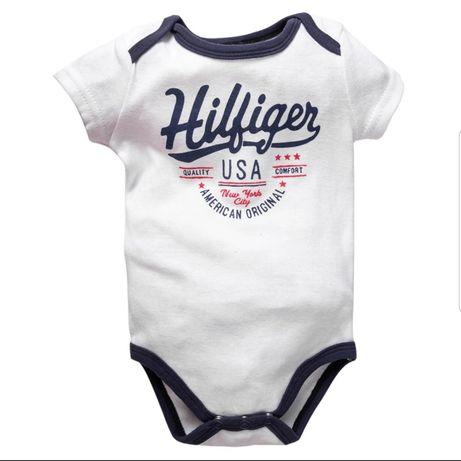 Tommy Hilfiger Body od 3 do 6 miesiąca Bawełna Hit