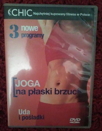 Płyta DVD fitness joga na płaski brzuch, uda i pośladki.