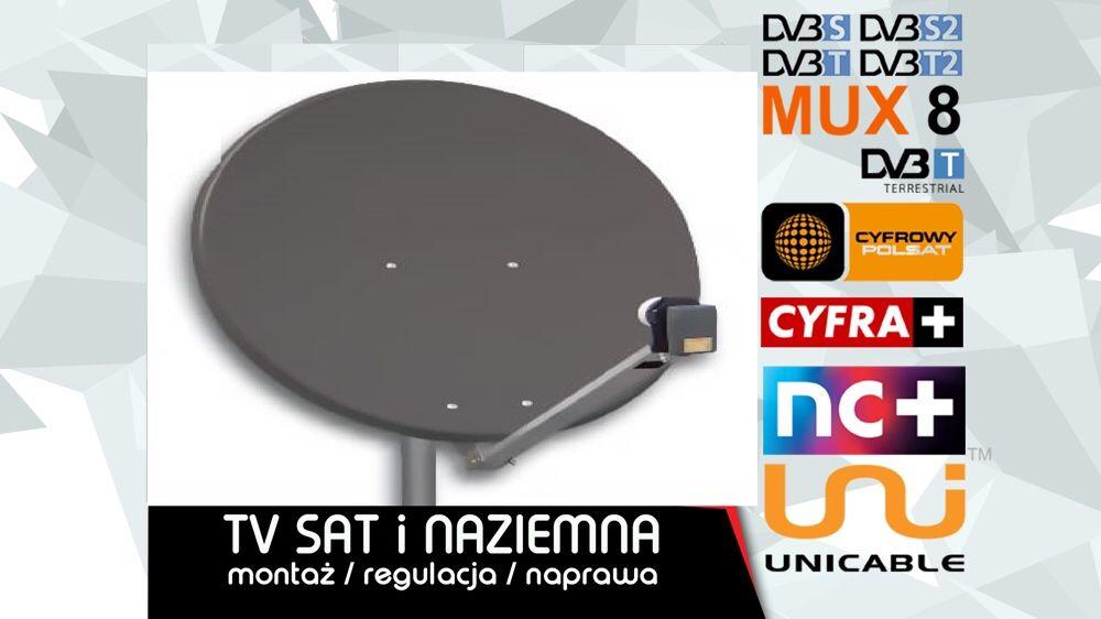 Montaż ustawienie serwis Anteny Satelitarnej Naziemnej DVBT Busko Busko-Zdrój - image 1