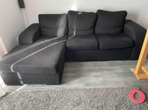 Sofá usado com chaise long