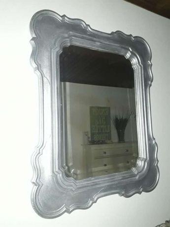 Espelho grande prateado