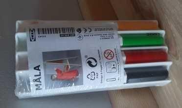 IKEA MÅLA Pisaki do tablicy zmazywalnej uchwyt/gąbka