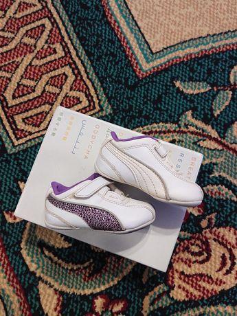 Puma пума кроссовки кеды 19р 12 см белые