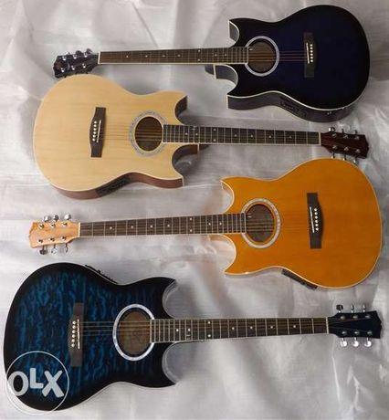 Set de guitarra eletroacústica com duplo cutaway