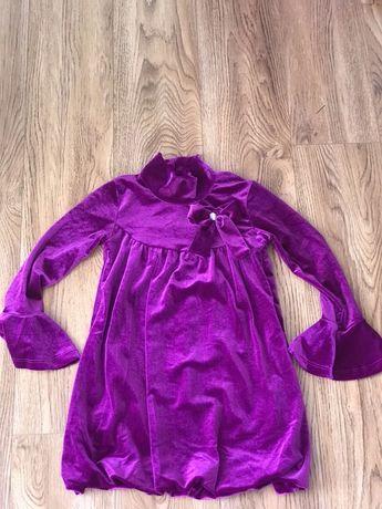 Платье нарядное для девочки,велюр.