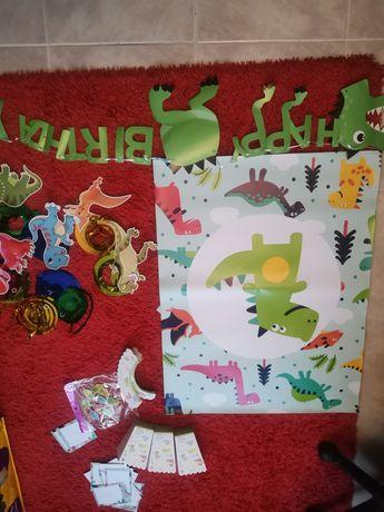 Decoração festa dinossauros (oferta portes)