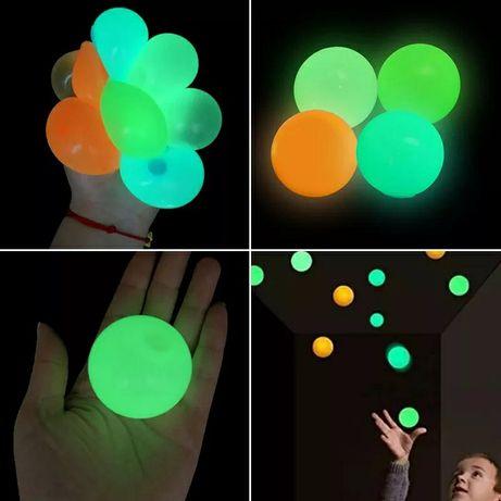 Липкий люминесцентный шарик антистресс