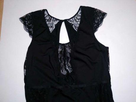 Body eleganckie czarne nowe koronki rozmiar L