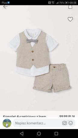 Komplet H&M roz 86 Nowy