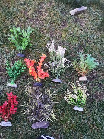 Sztuczne roślinki do akwarium