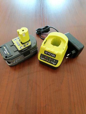 Akumulator Bateria RYOBI 4.0Ah 18V ONE+, Ładowarka RYOBI NOWE