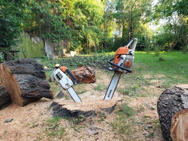 Wycinka drzew, przycinanie gałęzi i krzewów, karczowanie działek