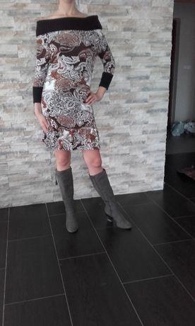 Sukienka Bonprix wykonany kołnierz rozm. 40/42