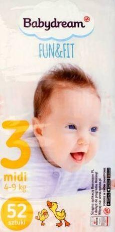 Pieluchy babydream Fit&fun rozmiar 3