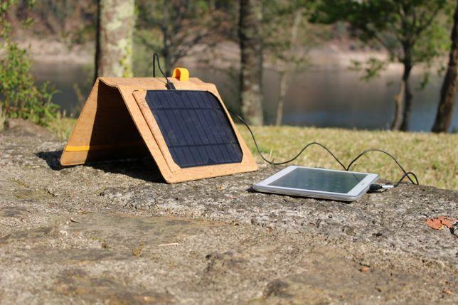 Capa de Cortiça para tablet e outros gadget Painel Solar e Bateria