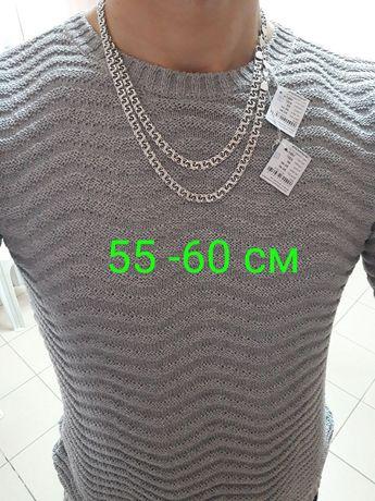 АКЦИЯ! Серебряная цепочка мужская на подарок Серебро цепь 925 проба