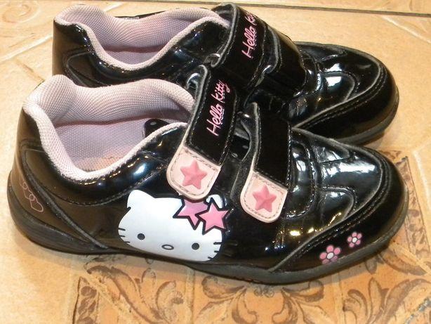 Buciki na jesień Hello Kitty disney lakierki na rzepy 28 roz