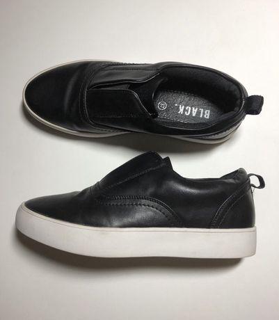 Buty skorzane sneakersy 37