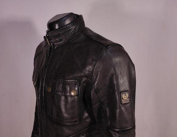 Кожаная куртка BELSTAFF leather jacket Оригинал! (Р.М-Л) белстаф харл