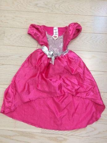 Sukienka przebranie karnawałowe Barbie księżniczka królewna