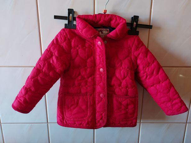 Czerwona kurteczka pikowana na wiosne dla dziewczynki 98