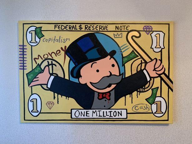 Картина в стиле Monopoly-миллион. ручная робота
