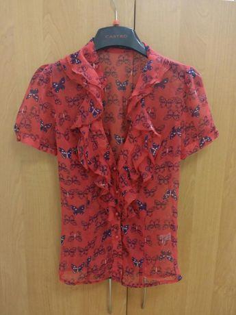 Блузка блуза шифоновая размер М.