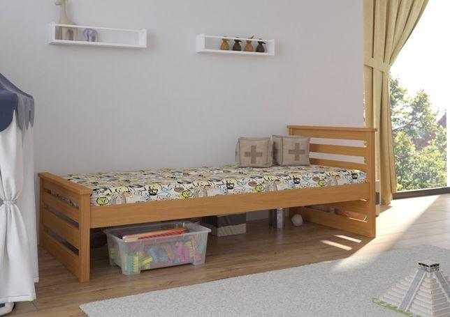 Sosnowe łóżeczko dla dziecka Adaś Premium. POLSKI PRODUKT