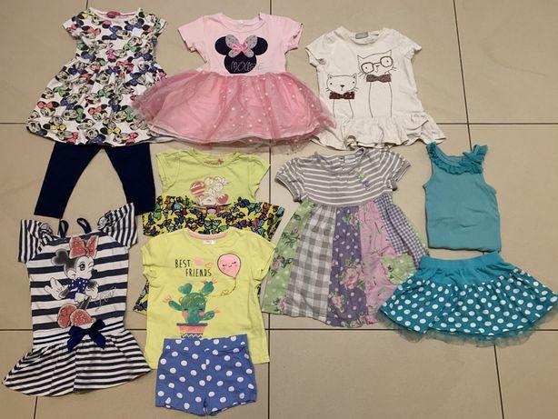 Pakiet zestaw paka ubrań na lato dziewczynka roz 104 - 12 szt P4