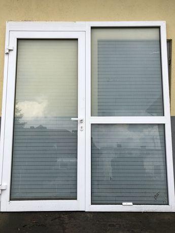 Drzwi wejściowe z oknem aluminiowe