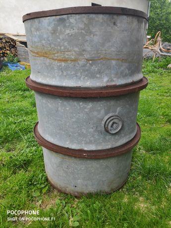 Beczka ocynkowana 200 litrów na deszczówkę