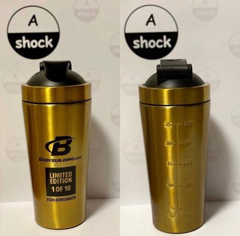 Шейкер Bodybuilding.com Shaker Gold Steel 750ml есть еше протеин, bcaa