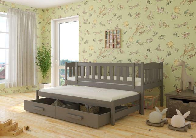 Łóżko dziecięce 2-osobowe HANIA . Wysyłka w 7 dni! DREWNO SOSNOWE