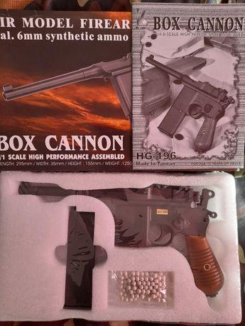 Pistola para airsoft Mauser C96 , Full metal (Green gas) Nova.