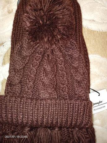 Набор шапка и шарф зимние