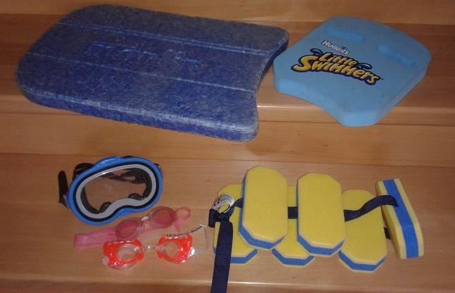 Deska do pływania pas do nauki pływania gogle maska okulary pływackie