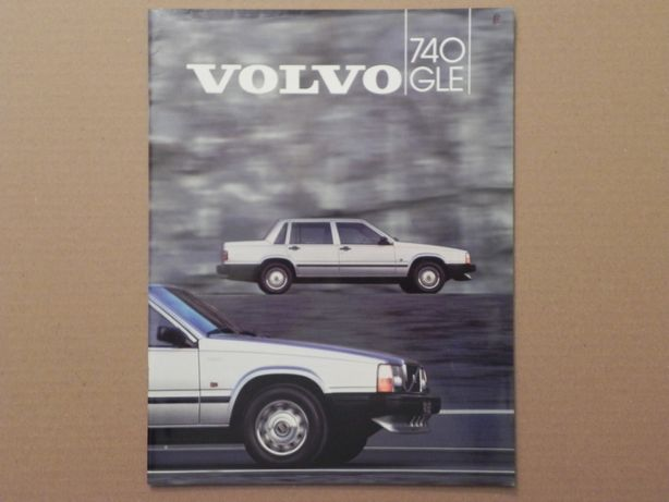 Prospekt - VOLVO 740 GLE - 1984 r