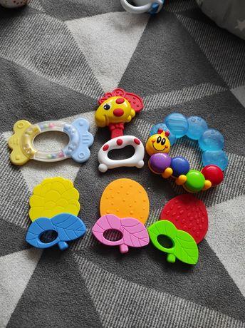Погремушки,грызунки,игрушка на коляску,ниблер силиконовый и сеточкой