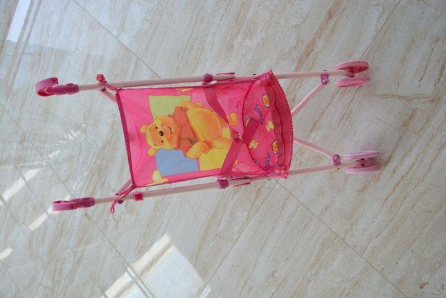 Wózek do lalek spacerówka Disney składany różowy kubuś Puchatek tanioo