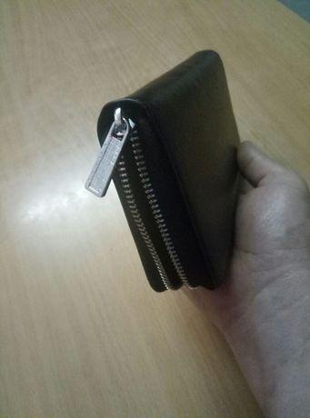 Портмоне, мужской кошелек, черное портмоне, визитница