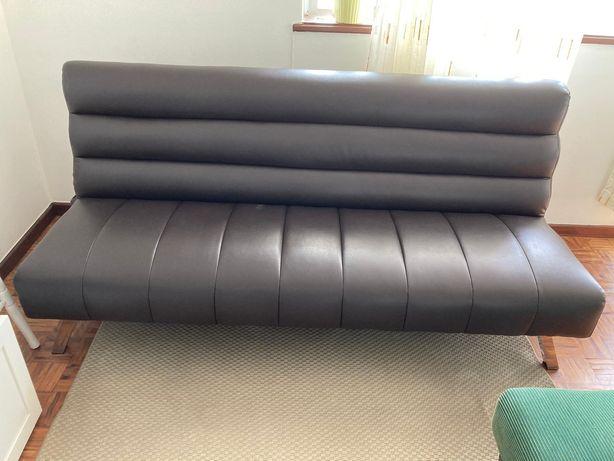 Sofá cama castanho IKEA